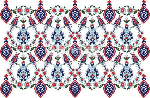 Ottoman Turkish Design Pattern Vector : Vector Art