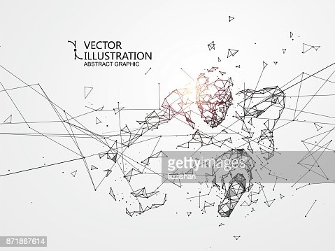 Out of the connection people, vector illustration. : stock vector