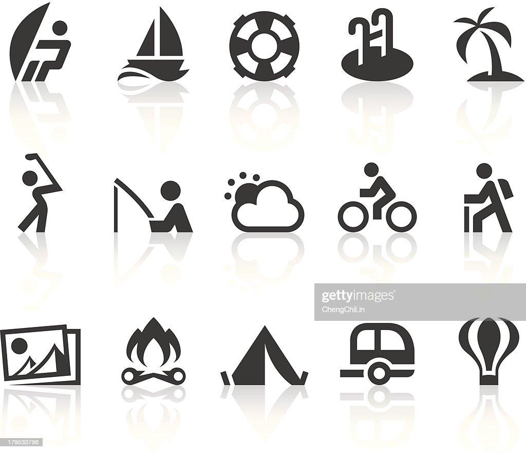 Outdoor Activities Icons   Simple Black Series : Vector Art
