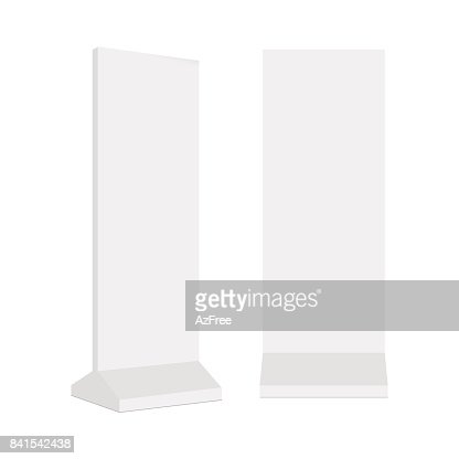 Outdoor advertising POS POI stand banner or lightbox. Vector mock up template ready for your design : stock vector