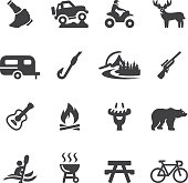 Outdoors and Adventure Silhouette icons