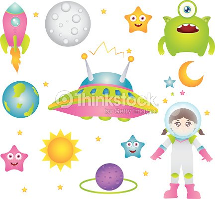 Outer space design elements vector art thinkstock for Outer space stage design