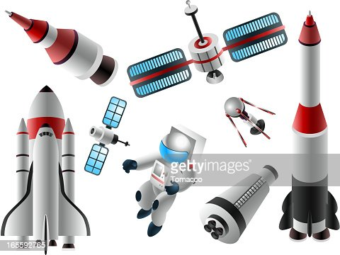 Space shuttle vector art and graphics getty images for Outer space elements
