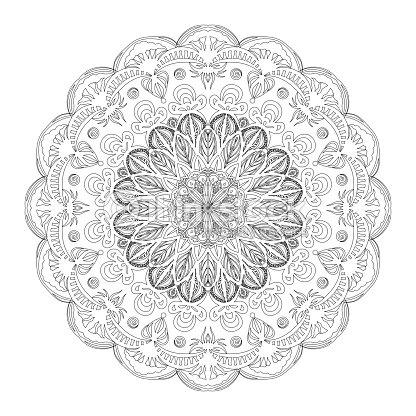 Mandala De Esquema De Página De Libro Para Colorear Patrón De Vector ...