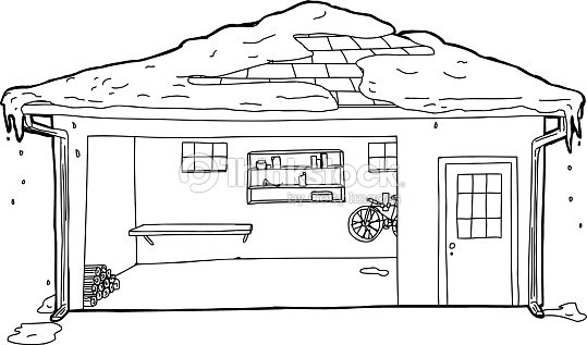 how to draw a roof line