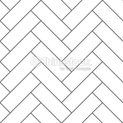 Outline vintage wooden floor herringbone parquet vector seamless pattern : stock vector