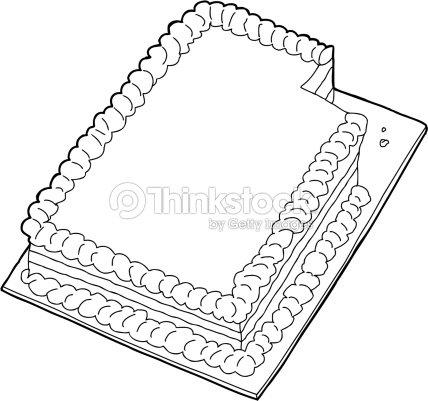 Aufgefuhrten Mit Fehlenden Stuck Kuchen Vektorgrafik Thinkstock