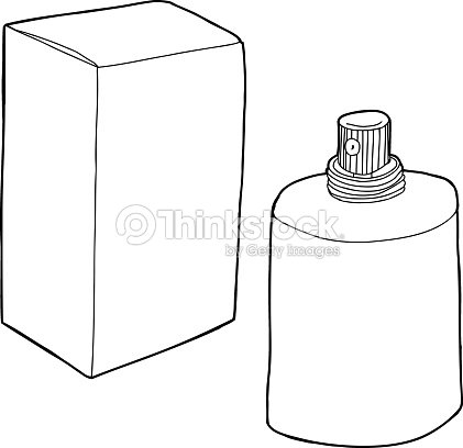 Parfum Kleurplaat Outlined Perfume Bottle Stock Vector Thinkstock