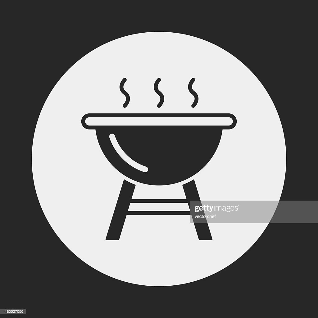 バーベキューオーブンアイコン : ベクトルアート
