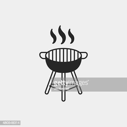 BBQ oven icon : Vector Art