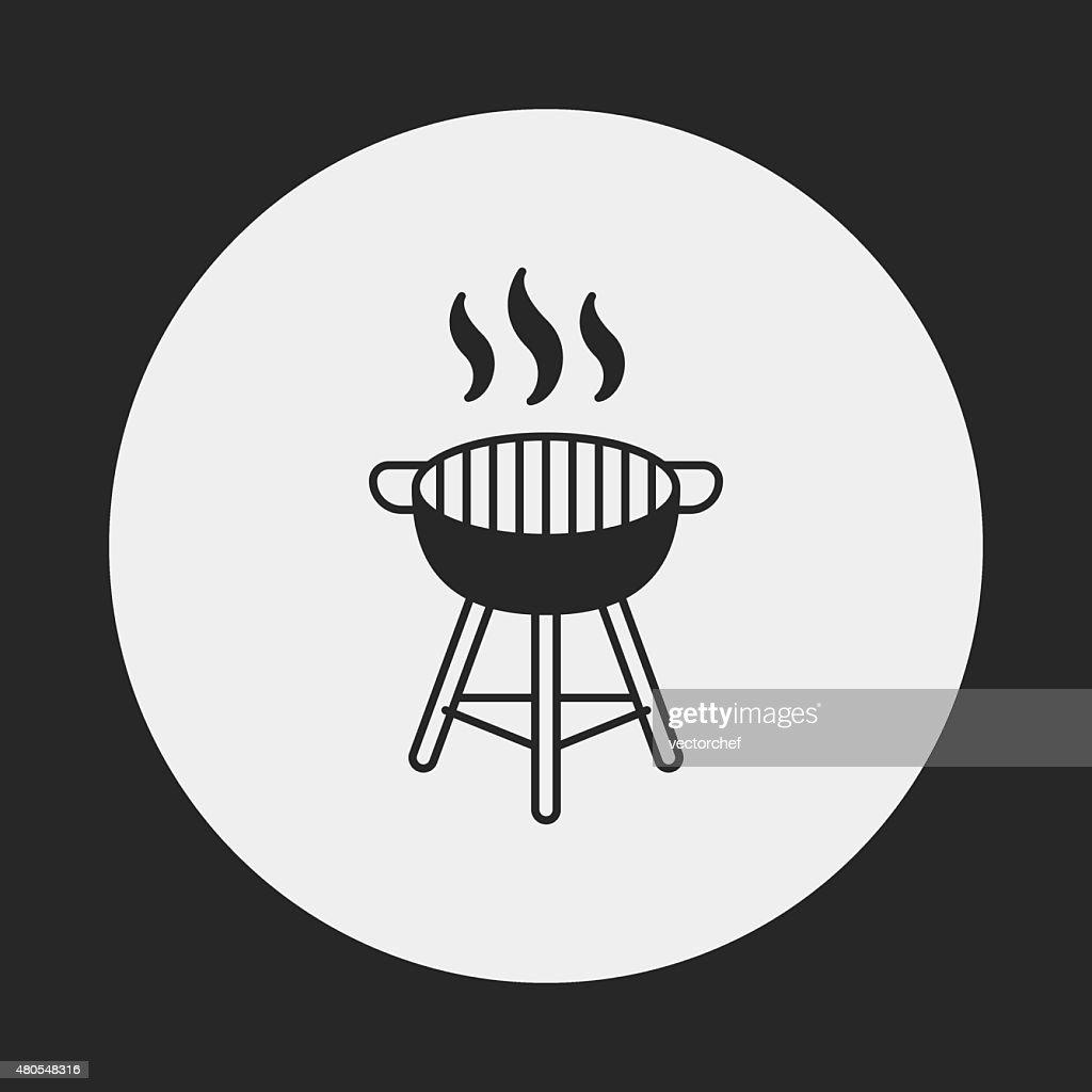Icono de barbacoa horno : Arte vectorial