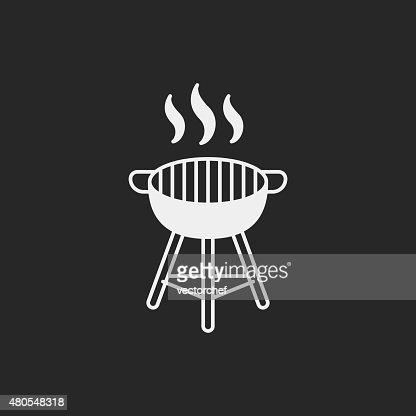Forno BBQ ícone : Arte vetorial