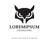 Owl Head Symbol Template Design Vector, Emblem, Design Concept, Creative Symbol, Icon