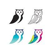 Owl symbol set.