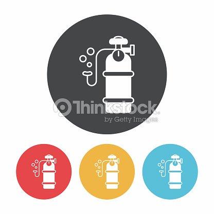 Oxygen Cylinder Icon Vector Art Thinkstock