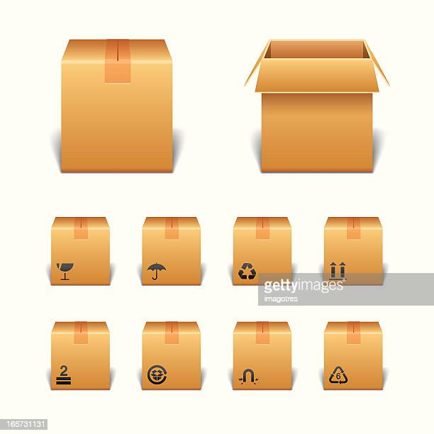 Package Boxes with Icons