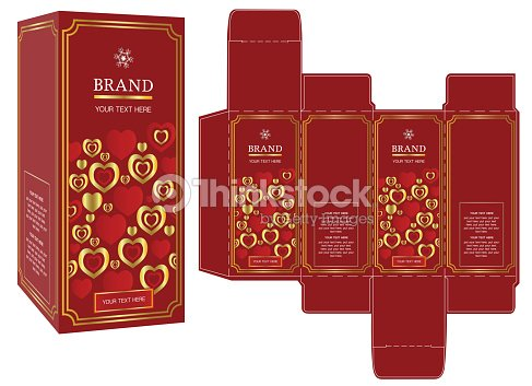 packaging design gift box template and mockup box vector art