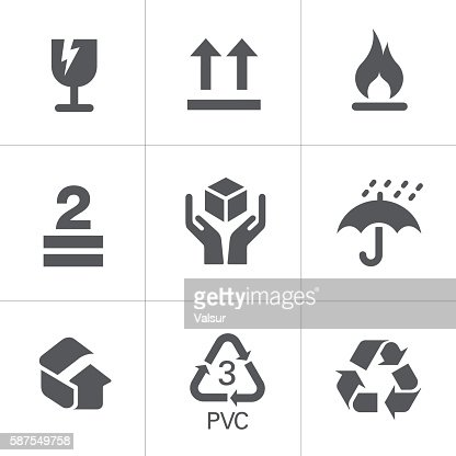 Packaging Signs & Symbols : stock vector