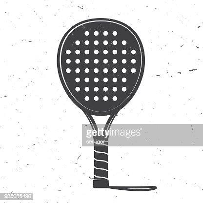 Padel tennis racket icon. Vector illustration : stock vector
