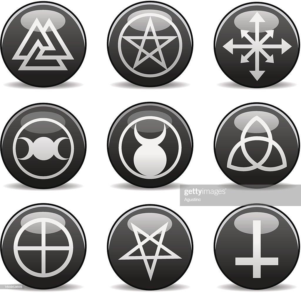 Pagan Wiccan Symbols : Vector Art