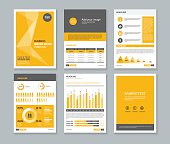 page brochure  flyer report Layout design template and cover design