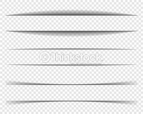 ページ区切り線セット、紙影、フレームの影。 : ベクトルアート