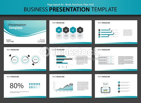 page layout design template for business presentation vector art