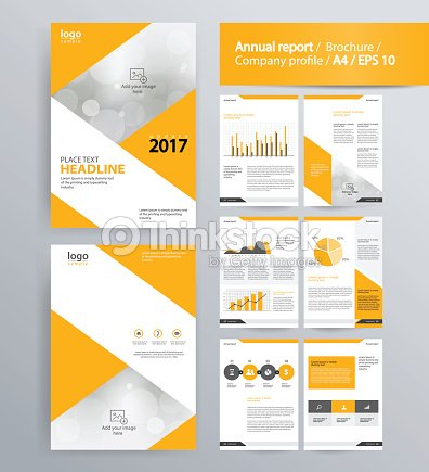Page Layout For Company Profile Annual Report And Brochure Layout - Company profile brochure template