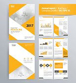 page layout for company profile, annual report, brochure, and flyer layout template. with info graphic element. and vector A4 size for editable  This file EPS 10 format. This illustration contains a