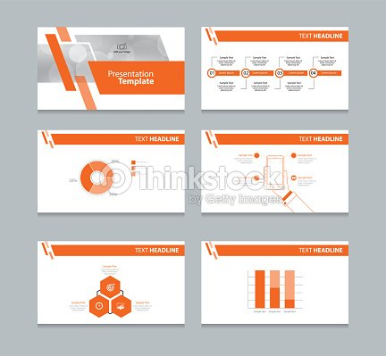 page presentation layout design template with info graphic element