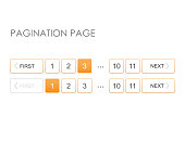 Pagination page vector. Full pagination