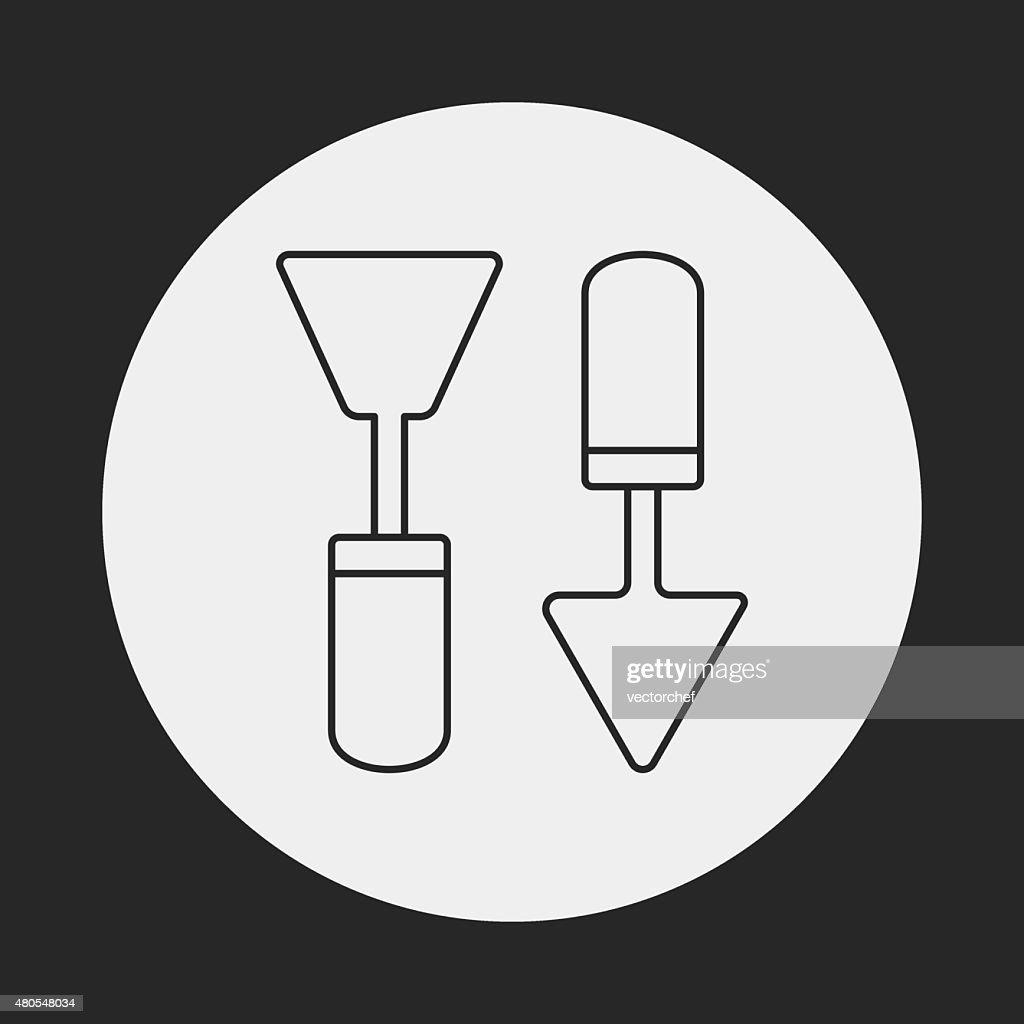 Cepillo de pintura de iconos : Arte vectorial