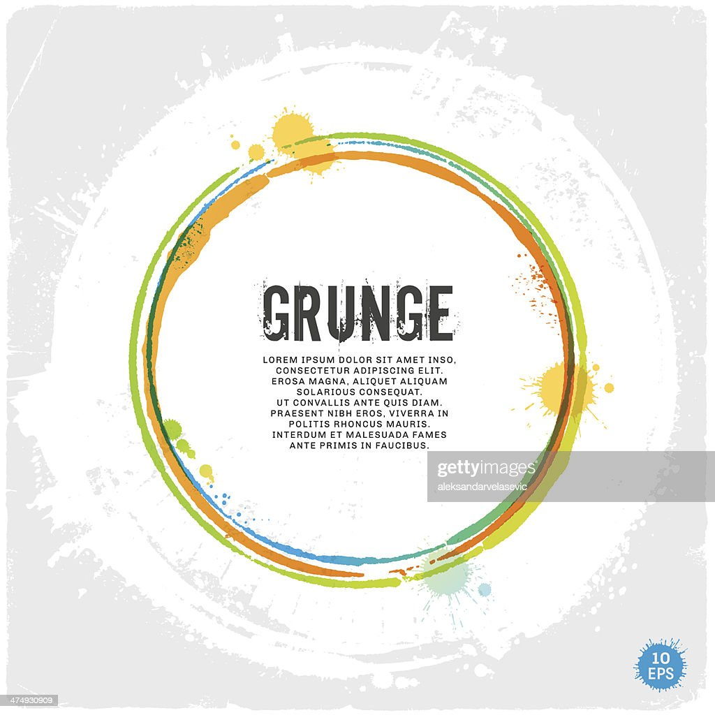 of vector grunge circle - photo #42
