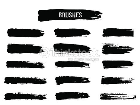 Painted grunge stripes set. : stock vector