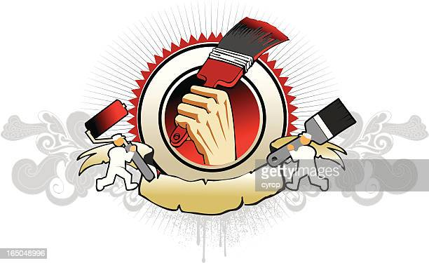 painter brush emblem