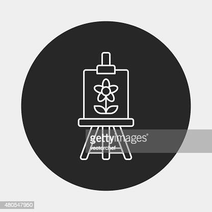Ícone de Pintura de arte linha : Arte vetorial