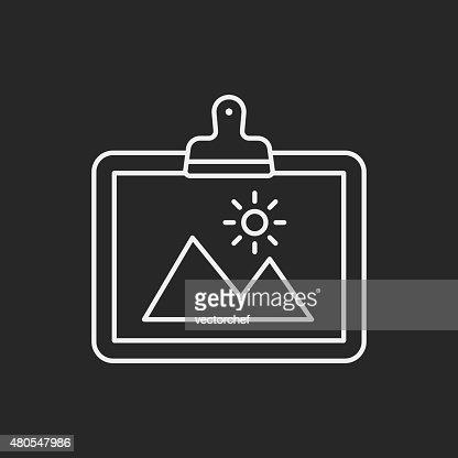 painting artwork line icon : Vector Art