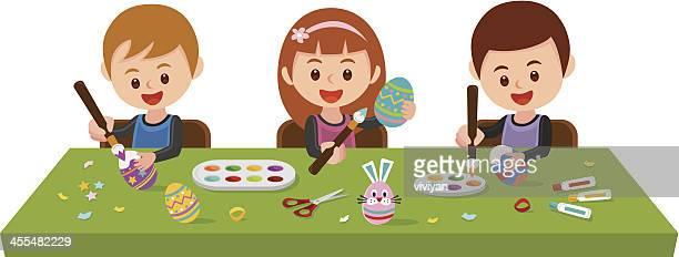 Pintura huevos de Pascuas