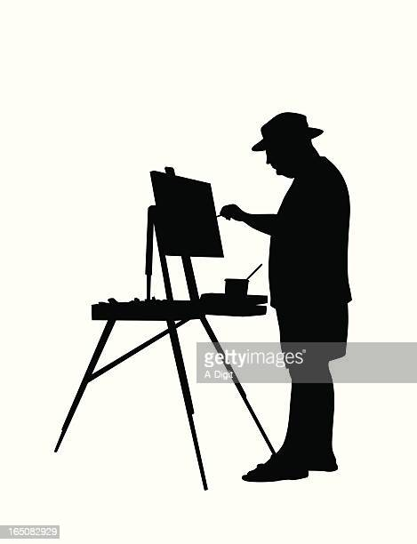 Painting Landscapes  Vector Silhouette