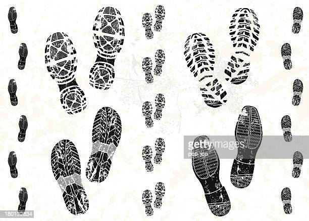 Pairs of shoe tracks