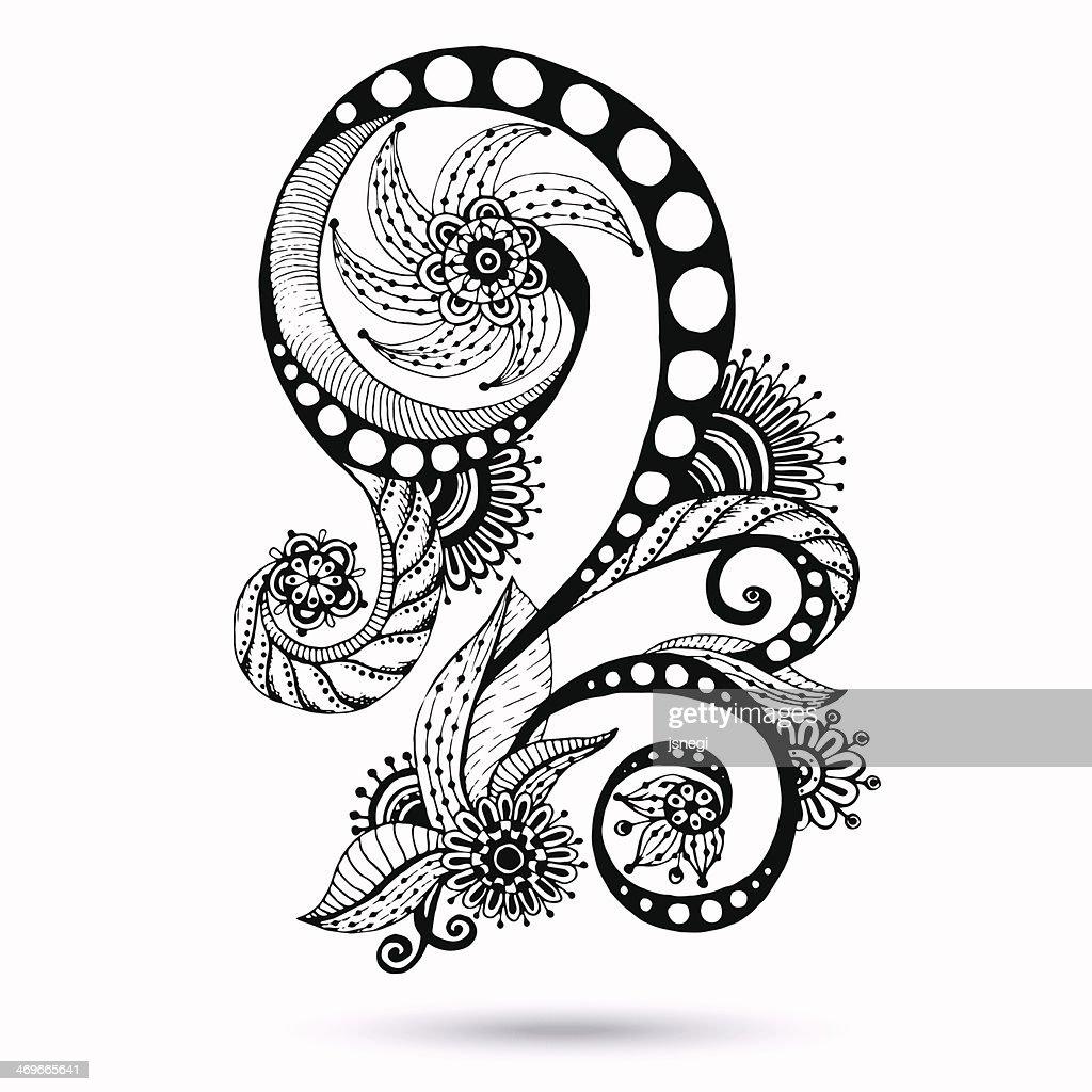 paisley mehndi design element for henna vector art thinkstock rh thinkstockphotos com henna vector png henna vector border