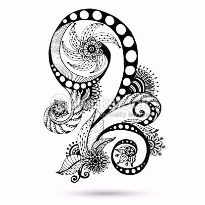 Paisley Mehndi Design Element For Henna Vector Art Thinkstock