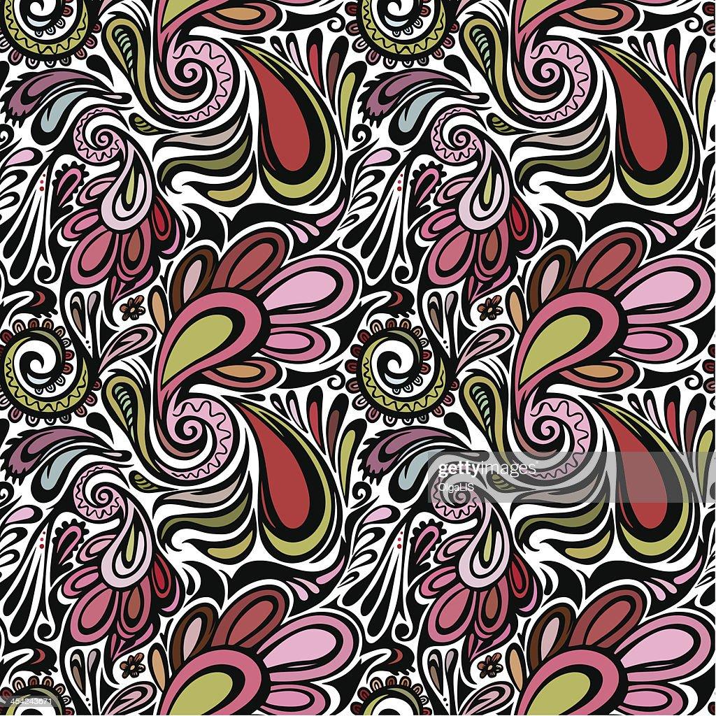 Paisley seamless pattern : Vector Art