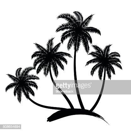 palm trees vector : Vector Art