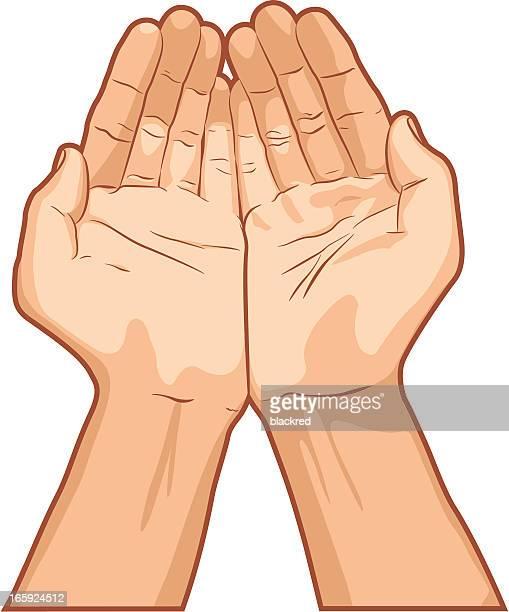 Palme insieme mano gesto