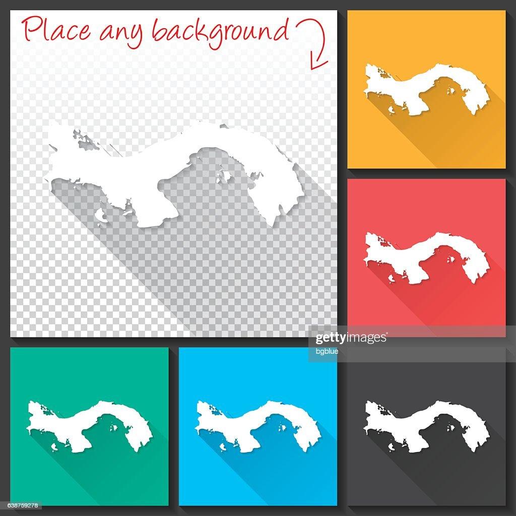 Panama Map For Design Long Shadow Flat Design Vector Art Getty - Panama map vector