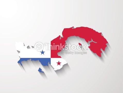 Panama Map With Shadow Effect Presentation Vector Art Thinkstock - Panama map vector
