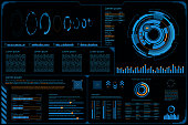 HUD panel Ui Business.Futuristic abstract technology background.icon symbol circuit.vector and illustration