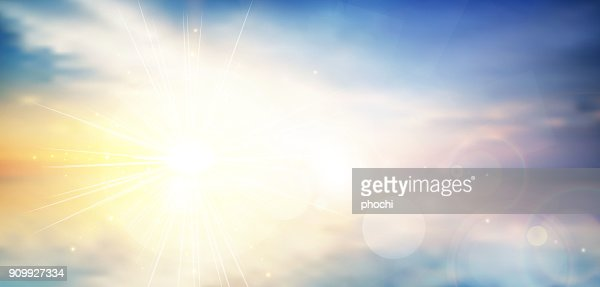 panorama twilight blurred gradient abstract background. colorful sea and sky with sunlight rays backdrop. vector illustration for your graphic design, banner or poster : stock vector