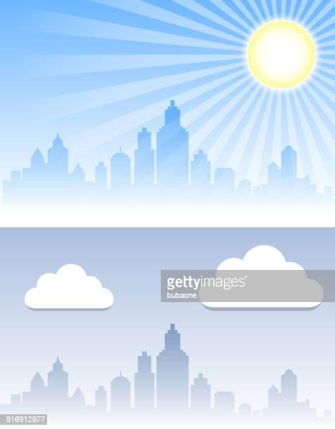 Vue panoramique sur la ville de fond temps ensemble